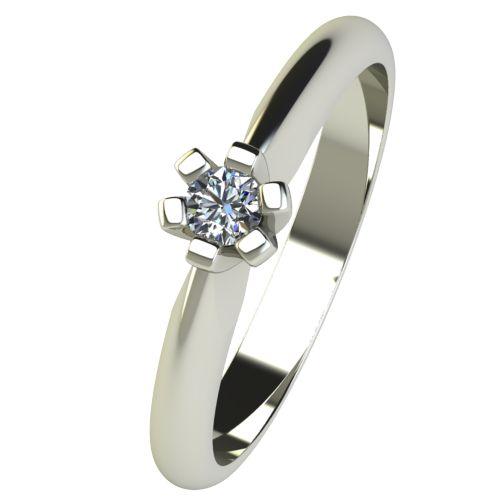 Годежен Пръстен бяло злато с диамант Piece 0,07 ct. 2521