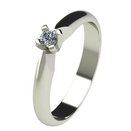 Годежен Пръстен бяло злато с диамант Piece 0,07 ct. 2526