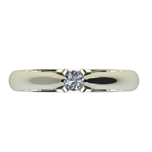 Годежен Пръстен бяло злато с диамант Piece 0,12 ct. 2527 a