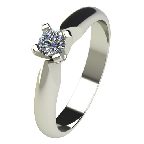 Годежен Пръстен бяло злато с диамант Piece 0,12 ct. 2527