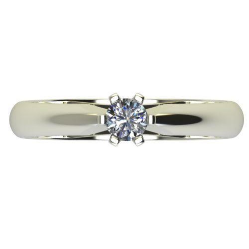 Годежен Пръстен бяло злато с диамант Piece 0,17 ct. 2523 a