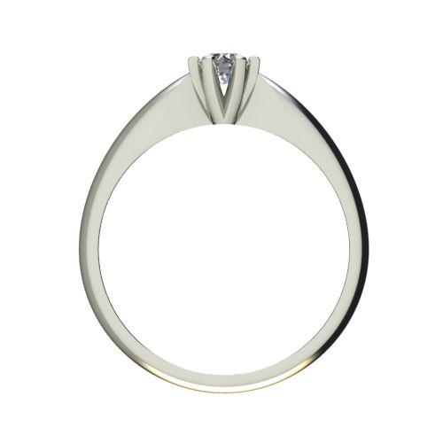 Годежен Пръстен бяло злато с диамант Piece 0,17 ct. 2523 b