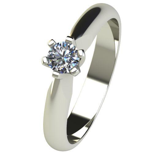 Годежен Пръстен бяло злато с диамант Piece 0,17 ct. 2523