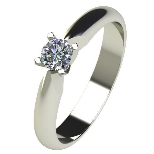 Годежен Пръстен бяло злато с диамант Piece 0,17 ct. 2528
