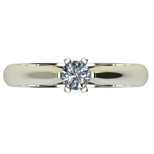 Годежен Пръстен бяло злато с диамант Piece 0,25 ct. 2524 a