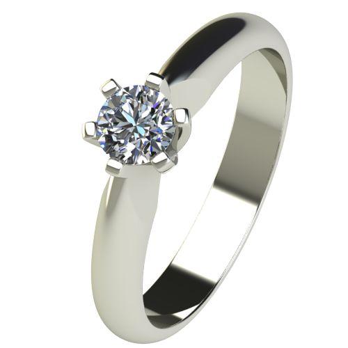 Годежен Пръстен бяло злато с диамант Piece 0,25 ct. 2524