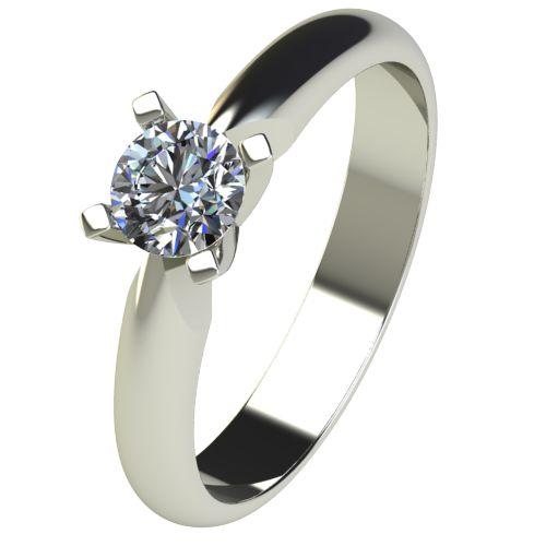 Годежен Пръстен бяло злато с диамант Piece 0,25 ct. 2529