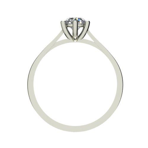 Годежен Пръстен бяло злато с диамант Tulip 0,40 ct. 2536 b