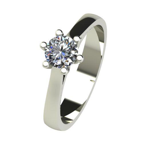 Годежен Пръстен бяло злато с диамант Tulip 0,40 ct. 2536