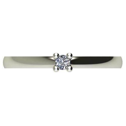 Годежен Пръстен бяло злато с диамант Fill 0,04 ct. 2570 a