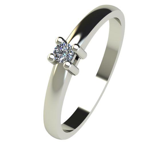 Годежен Пръстен бяло злато с диамант Fill 0,04 ct. 2570