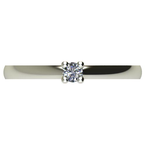 Годежен Пръстен бяло злато с диамант Fill 0,07 ct. 2571 a