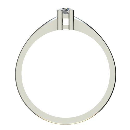 Годежен Пръстен бяло злато с диамант Fill 0,07 ct. 2571 b
