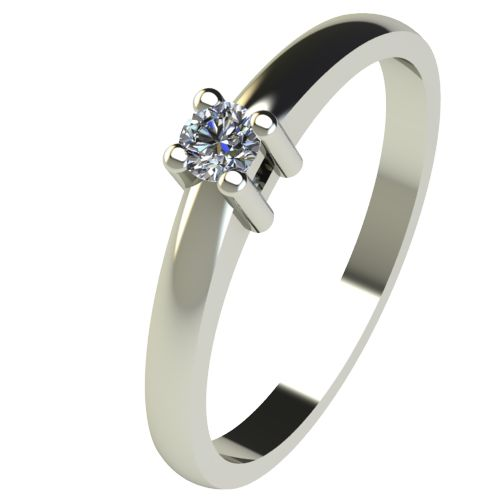 Годежен Пръстен бяло злато с диамант Fill 0,07 ct. 2571