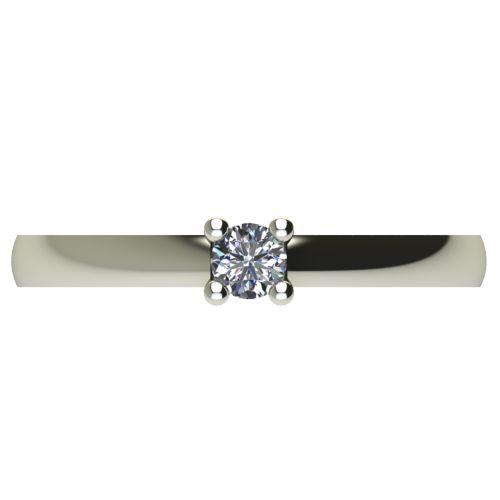 Годежен Пръстен бяло злато с диамант Fill 0,12 ct. 2572 a