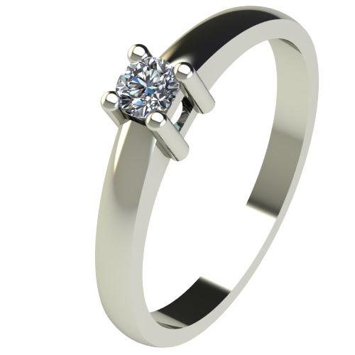 Годежен Пръстен бяло злато с диамант Fill 0,12 ct. 2572