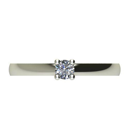 Годежен Пръстен бяло злато с диамант Fill 0,17 ct. 2573 a