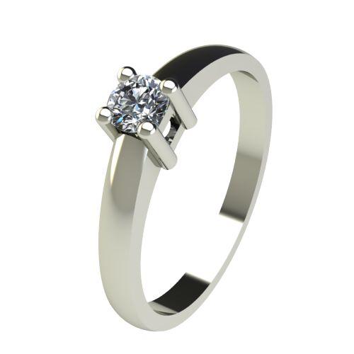 Годежен Пръстен бяло злато с диамант Fill 0,17 ct. 2573