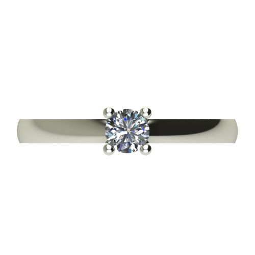 Годежен Пръстен бяло злато с диамант Fill 0,25 ct. 2574 a
