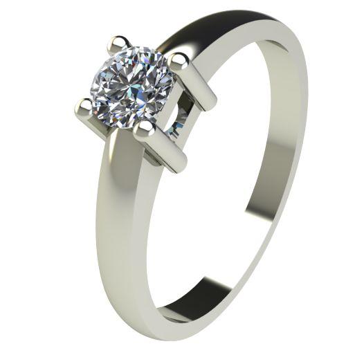 Годежен Пръстен бяло злато с диамант Fill 0,25 ct. 2574