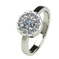 Годежен Пръстен бяло злато с диамант Halo 0,43 ct. 2560