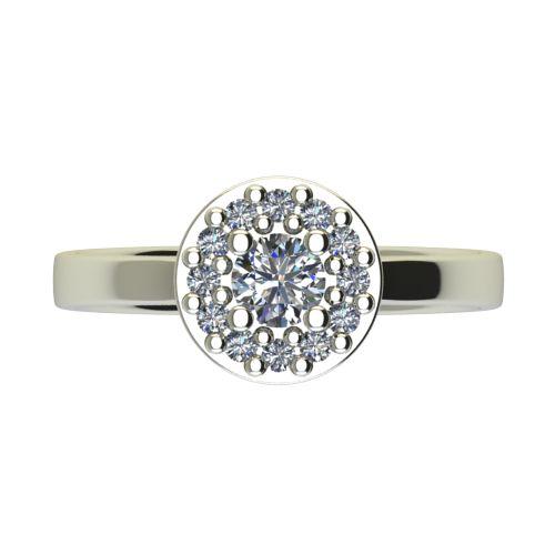 Годежен Пръстен бяло злато с диамант Halo 0,43 ct. 2560 a