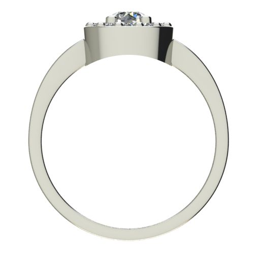 Годежен Пръстен бяло злато с диамант Halo 0,43 ct. 2560 b