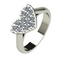 Годежен Пръстен бяло злато с диамант Heart 0,26 ct. 2575
