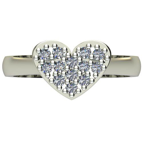 Годежен Пръстен бяло злато с диамант Heart 0,26 ct. 2575 a