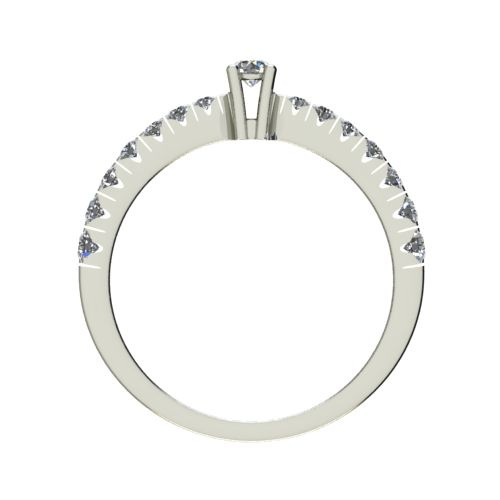 Годежен Пръстен бяло злато с диамант Nova 0,28 ct. 2547 b