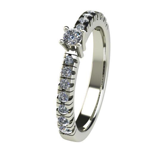 Годежен Пръстен бяло злато с диамант Nova 0,28 ct. 2547