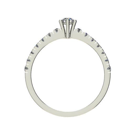 Годежен Пръстен бяло злато с диамант Nova 0,33 ct. 2548 b