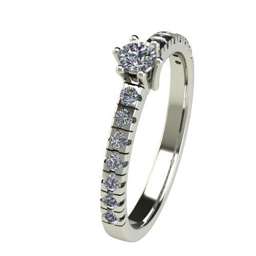 Годежен Пръстен бяло злато с диамант Nova 0,33 ct. 2548