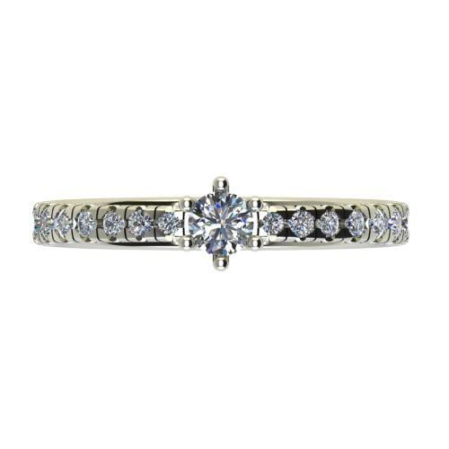 Годежен Пръстен бяло злато с диамант Nova 0,38 ct. 2550 a