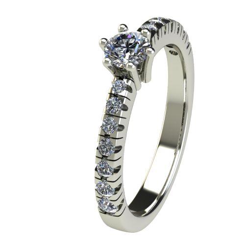 Годежен Пръстен бяло злато с диамант Nova 0,38 ct. 2550