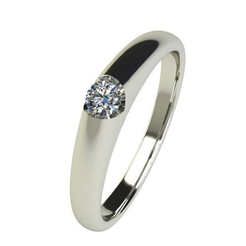 Годежен Пръстен бяло злато с диамант Safe 0,04 ct. 2552