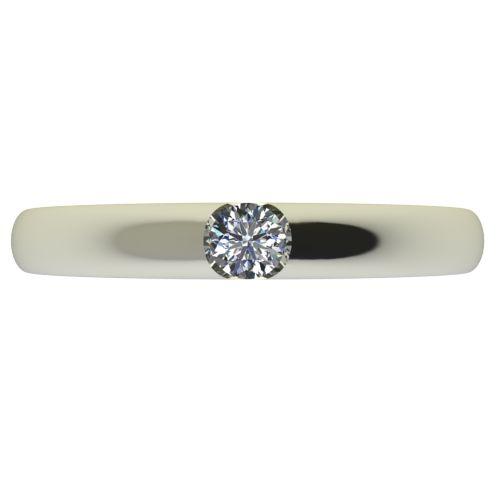 Годежен Пръстен бяло злато с диамант Safe 0,07 ct. 2553 a