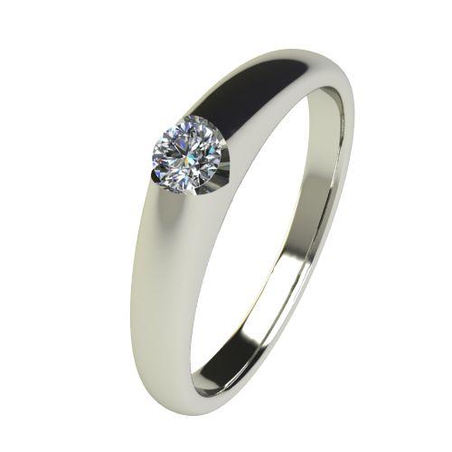 Годежен Пръстен бяло злато с диамант Safe 0,07 ct. 2553