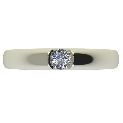 Годежен Пръстен бяло злато с диамант Safe 0,12 ct. 2554 a