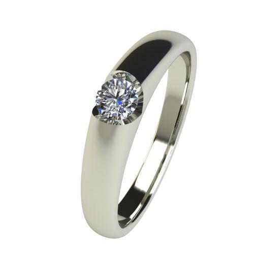 Годежен Пръстен бяло злато с диамант Safe 0,12 ct. 2554