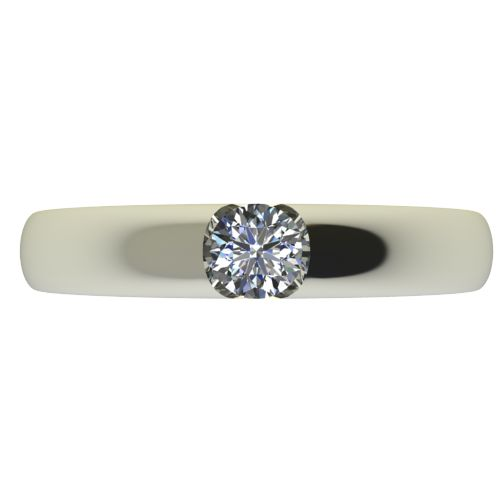 Годежен Пръстен бяло злато с диамант Safe 0,17 ct. 2555 a