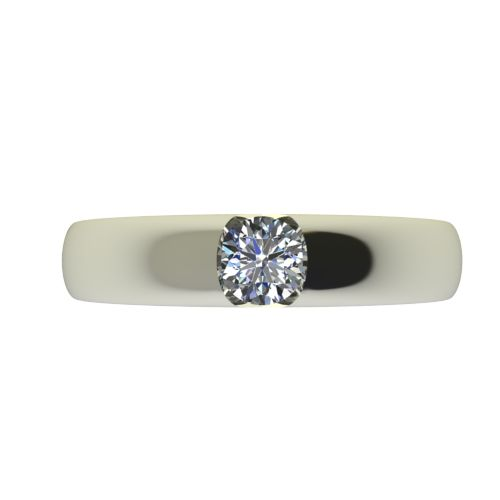 Годежен Пръстен бяло злато с диамант Safe 0,25 ct. 2556 a