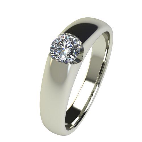 Годежен Пръстен бяло злато с диамант Safe 0,25 ct. 2556