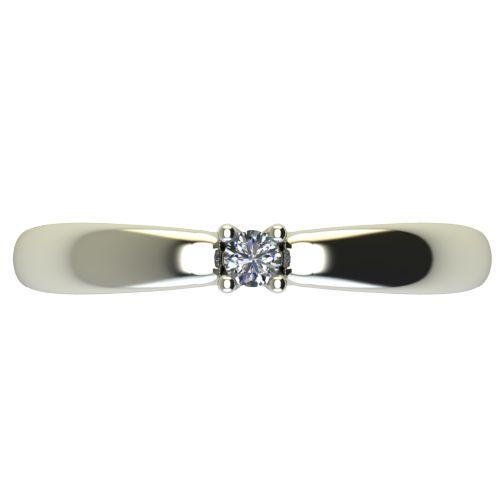 Годежен Пръстен бяло злато с диамант Thin 0,04 ct. 2561 a
