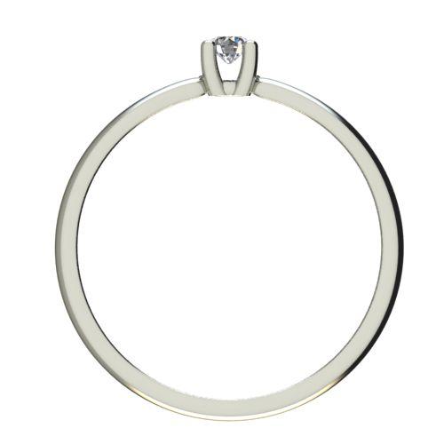Годежен Пръстен бяло злато с диамант Thin 0,04 ct. 2561 b