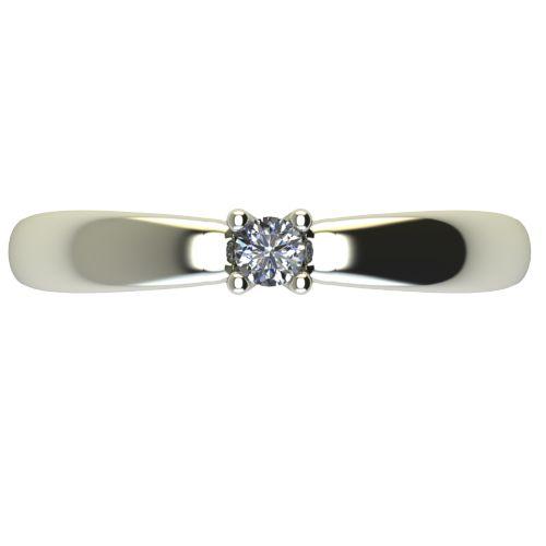 Годежен Пръстен бяло злато с диамант Thin 0,07 ct. 2562 a