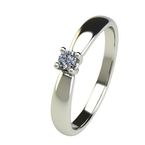 Годежен Пръстен бяло злато с диамант Thin 0,07 ct. 2562