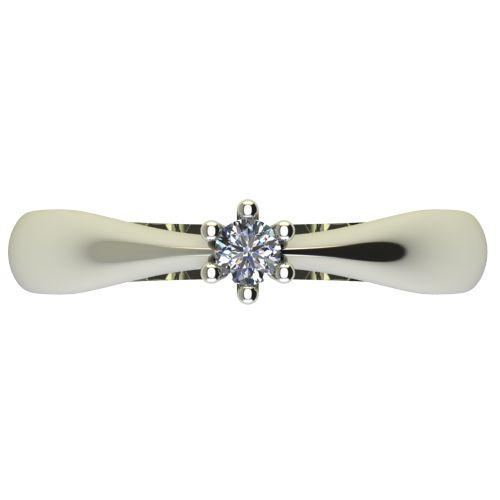 Годежен Пръстен бяло злато с диамант Thin 0,07 ct. 2566 a