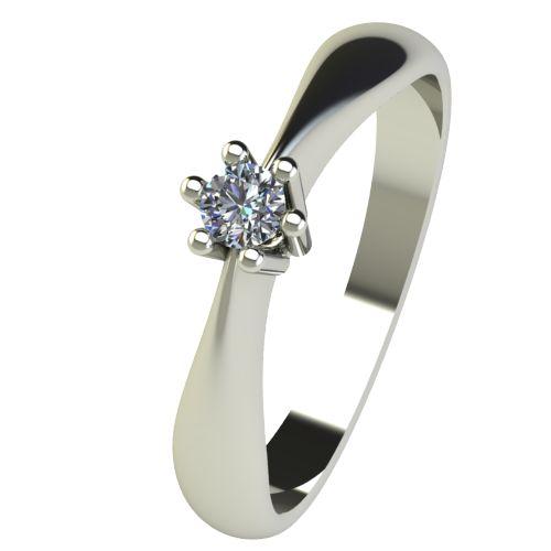 Годежен Пръстен бяло злато с диамант Thin 0,07 ct. 2566