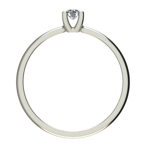 Годежен Пръстен бяло злато с диамант Thin 0,12 ct. 2563 b